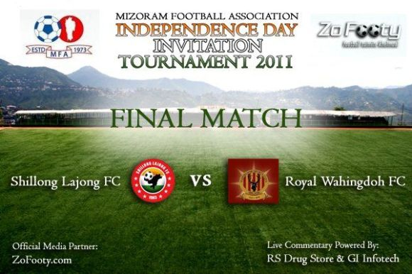 I-Day Final Lajong FC 4-0 Royal Wahingdoh. Live commentary
