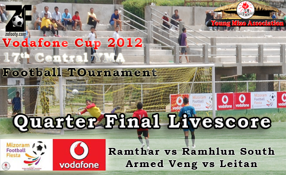 CYMA Football Quarter Final : Ramhlun South leh Armed Veng in Semi Final an lut ta