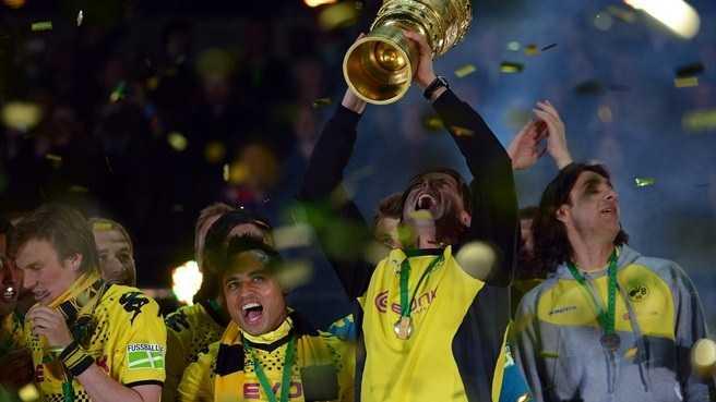 German Cup final ah Borussia Dortmund in Bayern Munich an sawp