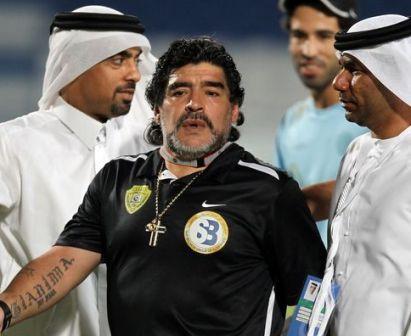 Al Wasl-in Manager Diego Maradona an ban !