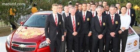 2014/15 atanga Manchester United shirt sponsor tu tur 'Chevrolet'