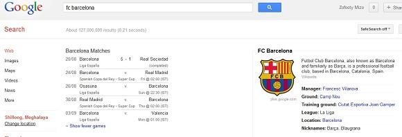 Football tuimite tan 'Google Search'