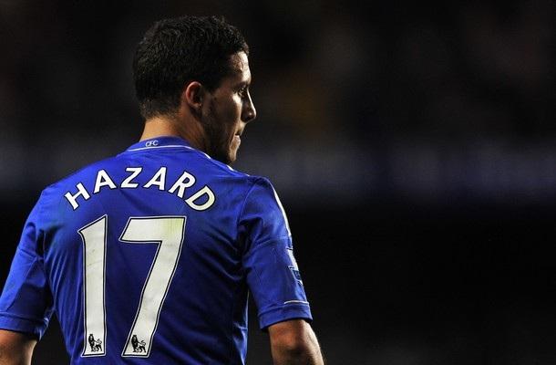 Chelsea-a jersey number 10 chang lo Eden Hazard.