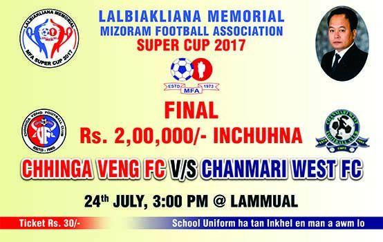 VAWIINAH MFA SUPER CUP FINAL : DUHTHLANG THEI VS A BANG THA