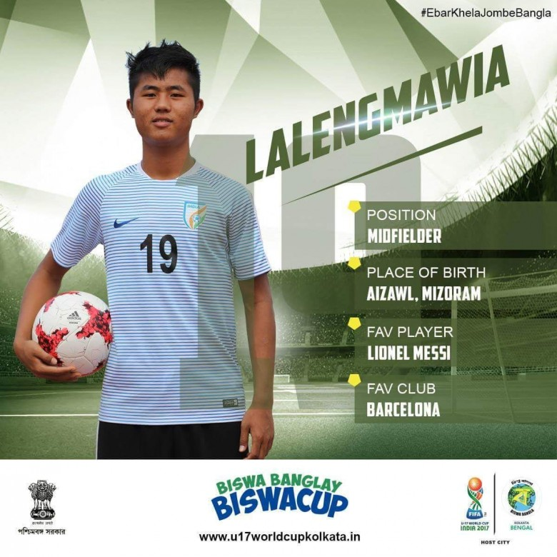 FIFA U-17 WORLD CUP ATAN INDIA – IN SQUAD PUANG