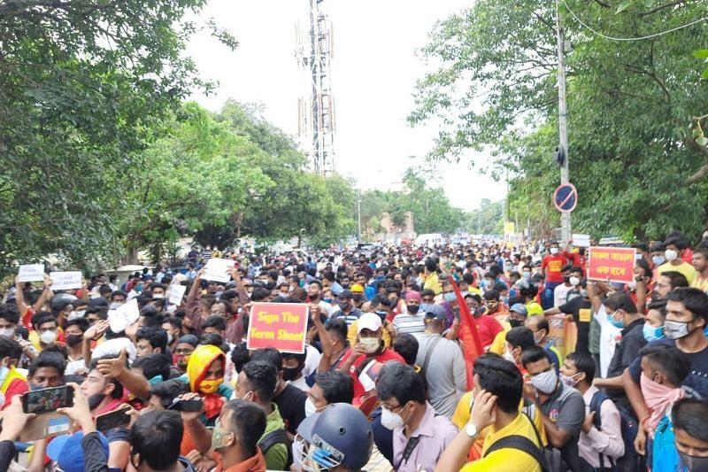 East Bengal fans te'n lungawilohna lantir; AIFF in inrawlh tum lo
